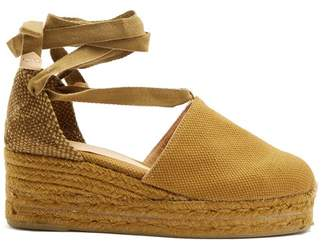 Castaner Campesina Canvas Wedge Espadrilles - Womens - Khaki