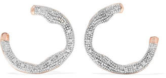 Monica Vinader Riva Rose Gold Vermeil Diamond Earrings