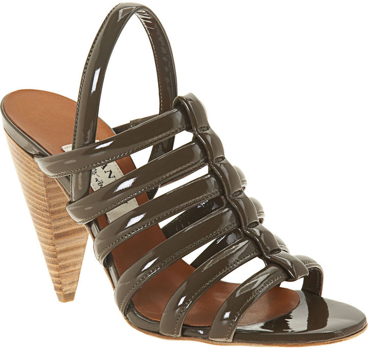 Lanvin Puffy Gladiator Sandal - Khaki