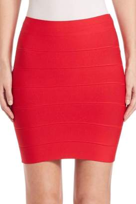 BCBGMAXAZRIA Red Bandage Skirt