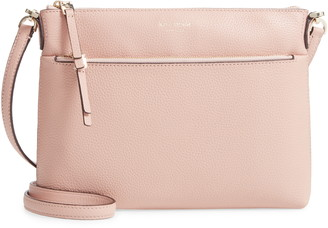 554d9464883854 Kate Spade Pink Leather Crossbody Handbags - ShopStyle