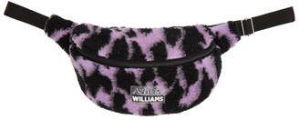 Ashley Williams Purple and Black Tiger Pouch