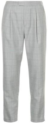 GUILD PRIME checked cropped slim-fit trousers