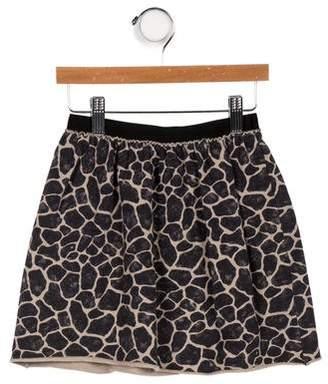 Douuod Girls' Printed Elasticized Waist Skirt