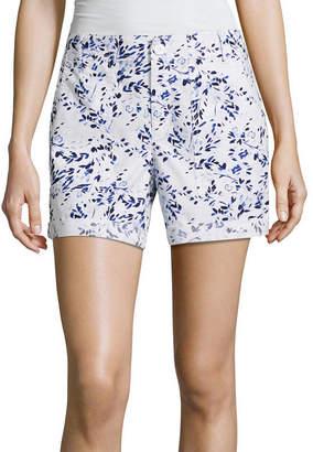 Liz Claiborne 5 Poplin Cargo Shorts