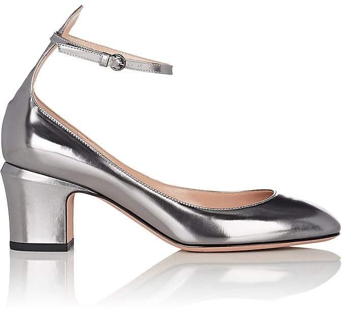 Valentino Garavani Women's Tango Specchio Leather Ankle-Strap Pumps