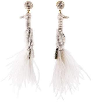 Mignonne Gavigan Bead Feather Drop Earrings