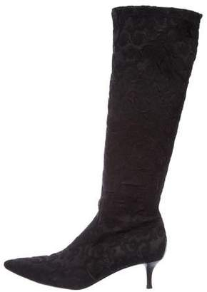 Donald J Pliner Embroidered Knee-High Boots