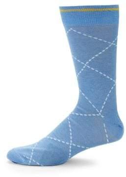 Mid-Calf Argyle Socks