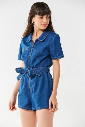 Urban Outfitters Hello Sunshine Denim Romper