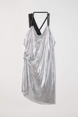 H&M Draped Halterneck Dress - Silver