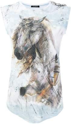 Balmain horse printed T-shirt