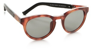 Linda farrow for the row Leather Round Sunglasses
