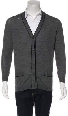 Prada Knit Button-Up Cardigan