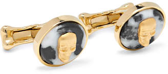 Alexander McQueen Gold-Tone And Marble Cufflinks