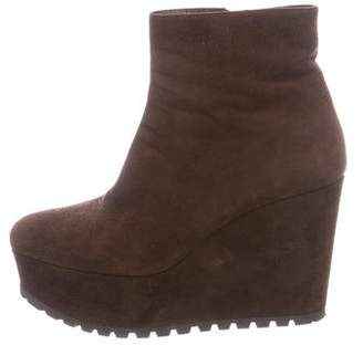Miu Miu Suede Flatform Boots