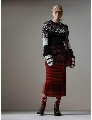 Burberry Hand-knitted Yoke Cashmere Wool Sweater