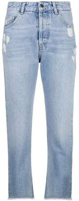 Liu Jo frayed cropped jeans