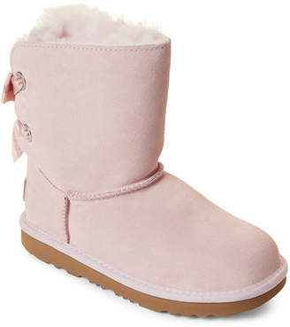 UGG Kids Girls) Bailey Bow II Real Fur Tall Boots