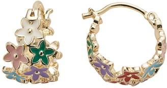Junior Jewels Brass Flower Hoop Earrings - Kids