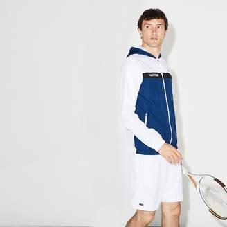 Lacoste Men's SPORT Hooded Colorblock Taffeta Tennis Jacket