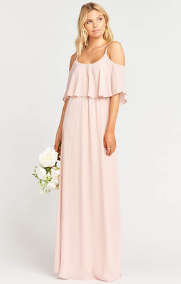 0d2065434088e Show Me Your Mumu Caitlin Ruffle Maxi Dress ~ Dusty Blush Crisp