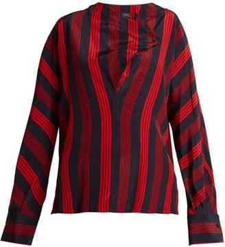 Joseph Leigh striped silk blouse