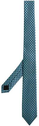 Burberry Slim Cut Daisy Silk Jacquard Tie