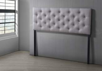 Baxton Studio Viviana Modern and Contemporary Fabric Upholstered Button Tufted Headboard