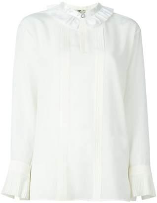 Fendi ruffled collar blouse