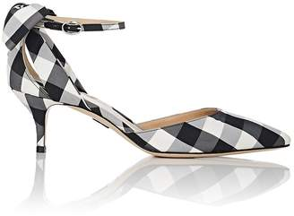 Paul Andrew Women's Anya Gingham Ankle-Strap Pumps
