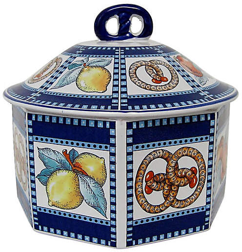 One Kings Lane Vintage Italian Ceramic Lidded Container - Retro Gallery