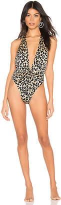 Milly Leopard Wrap One Piece