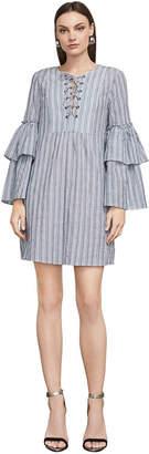 BCBGMAXAZRIA Charlyze Cotton A-Line Dress