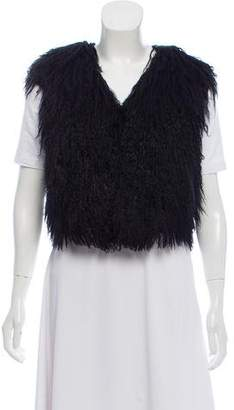 Gucci Cropped Shearling Vest