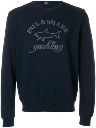 Paul & Shark logo long-sleeve sweatshirt