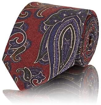 Cifonelli Men's Paisley Wool Faille Necktie