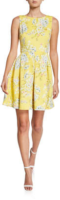 Taylor Floral-Print Fit-and-Flare Dress