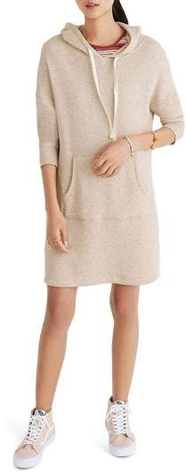 Madewell Hooded Sweatshirt Dress