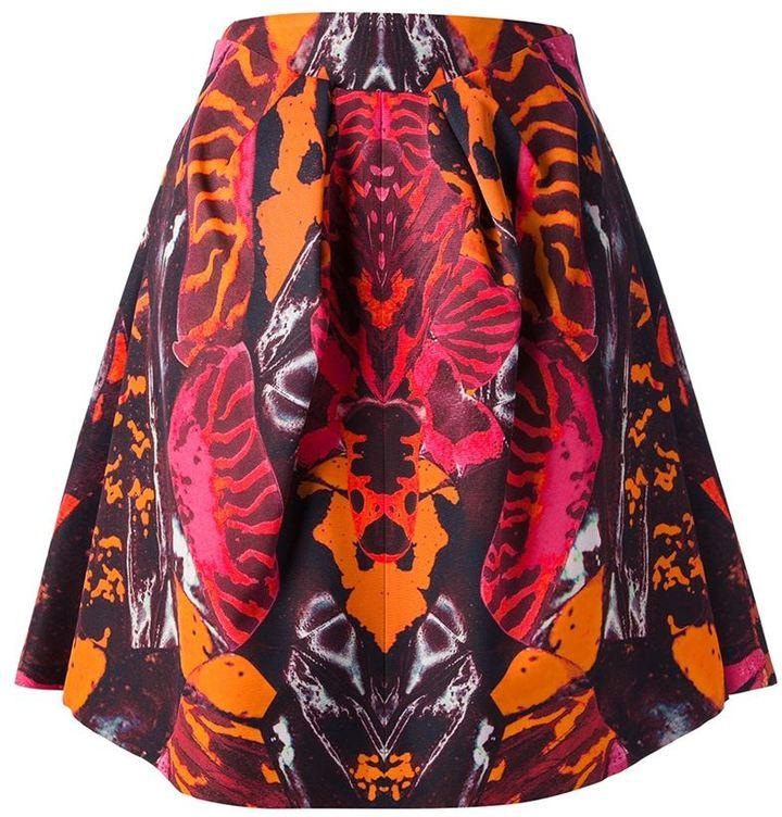 McQ kaleidoscope beetle print skirt