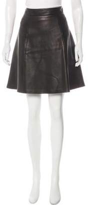 Rag & Bone Leather Knee-Length Skirt Black Leather Knee-Length Skirt