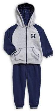 Tommy Hilfiger Baby Boy's Two-Piece Fleece Full-Zip Jacket Pants Set