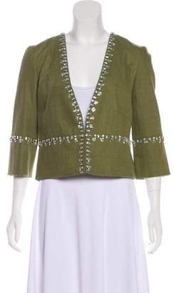Tory Burch Linen-Blend Jacket w/ Tags