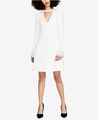 Rachel Roy Embellished Choker Fit & Flare Dress