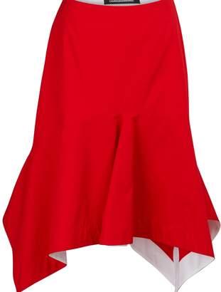 Calvin Klein Cotton gabardine midi skirt