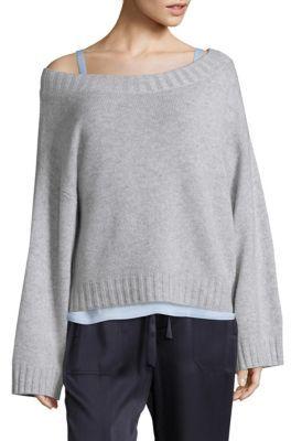 Vince Off-The-Shoulder Cashmere Sweater $345 thestylecure.com