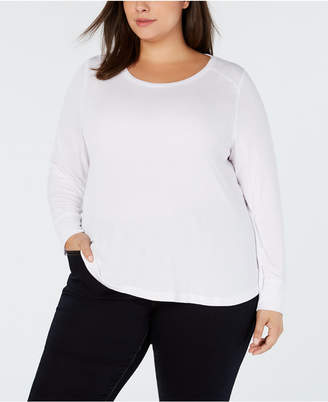 INC International Concepts I.n.c. Plus Size Ribbed Shirttail Sweater