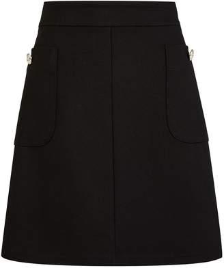Dorothy Perkins Womens Black Button Pocket Mini Skirt