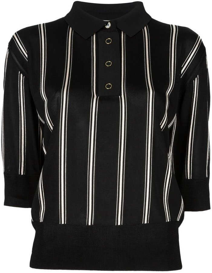 Lanvin Lanvin cropped striped polo shirt