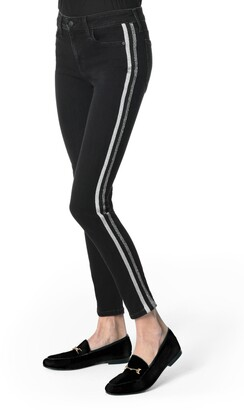 Joe's Jeans Flawless - Charlie Metallic Stripe High Waist Ankle Skinny Jeans
